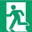 Emergency exit left hand sign ISO 7010