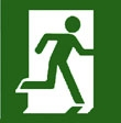 Emergency exit right hand sign